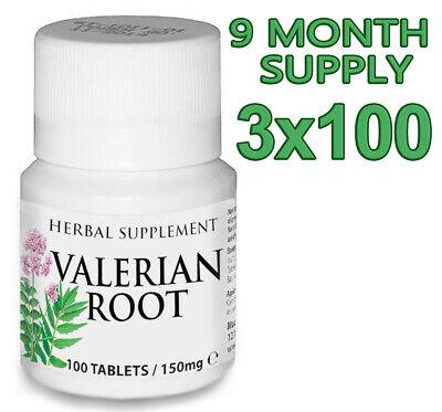 300 Tablets VALERIAN Natural Herbal Organic Sleeping Anxiety Depression Stress