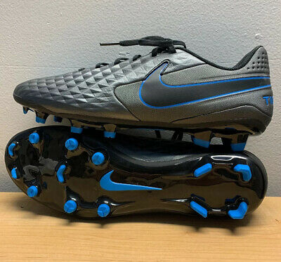 Nike Tiempo Legend 8 Academy Soccer Cleats Mens Black/Blue AT5292-004 Size 11.5