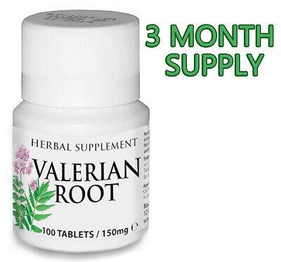 100 Tablets VALERIAN Natural Herbal Organic Sleeping Anxiety Depression Stress