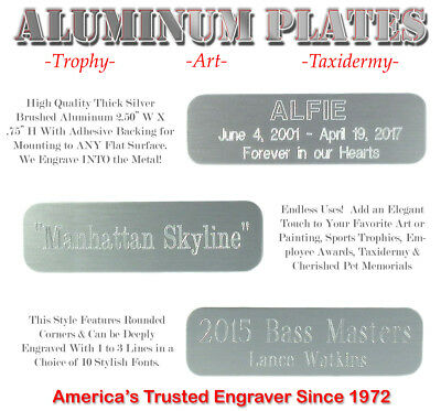 34 X 2 12 Custom Engraved Aluminum Id Name Plates Art Trophy Taxidermy Gifts