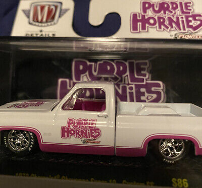 M2 Machines: 1973 Chevrolet Cheyenne Super 10-Custom SS (S86) Purple Hornies