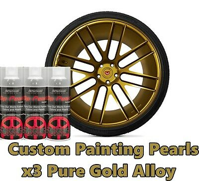 Dyc Performix Plasti Dip Pearl Pure Gold Alloy Aerosol Spray Cans X3 Free Sh