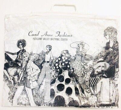 Vintage 60s 70s Mod Fashion Women Shopper Shopping Store Tote Bag Plastic Amko