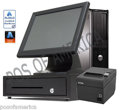 One Station Touch Screen Restaurant Pos System Dell For Aldelo Pay Pcamerica New
