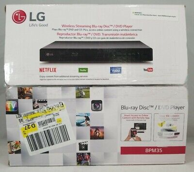 LG Electronics BPM35 Blu-ray Disc Player with Streaming Services, Built-in Wifi