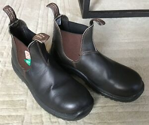 Mens Blundstone Size 8 Brown Safety Boot