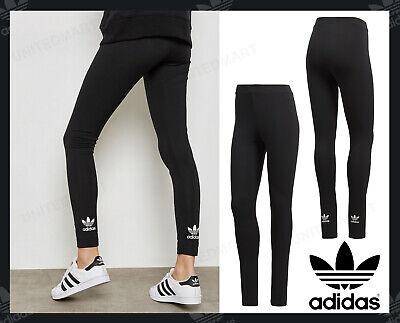 ADIDAS ORIGINALS Women 3 Stripe Trefoil logo Leggings Gym Sports 8 10 12 14 gift