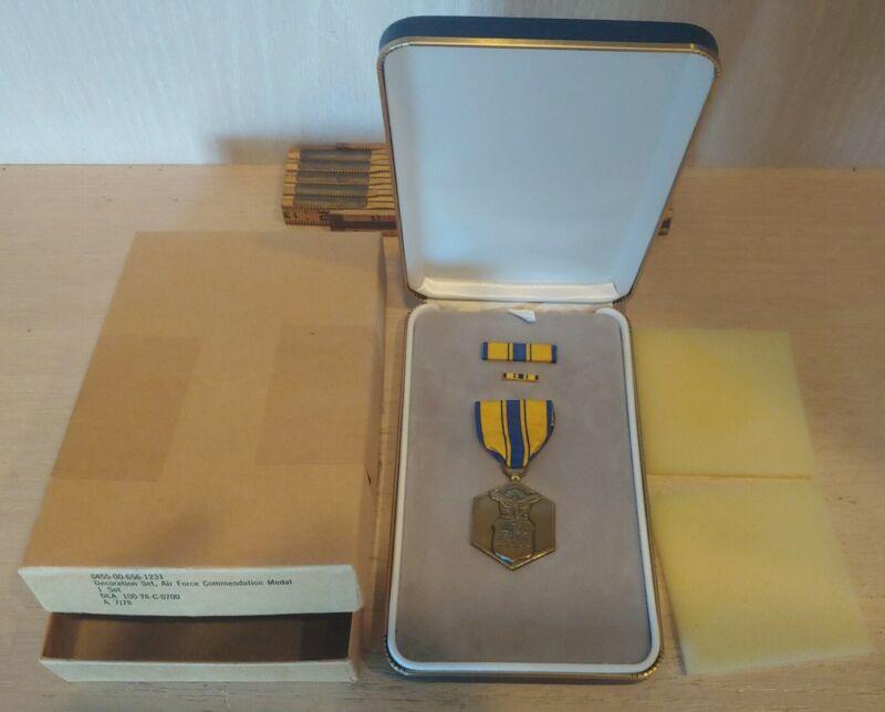 U.S. Air Force Commendation Medal Decoration Set in Presentation Case & Original