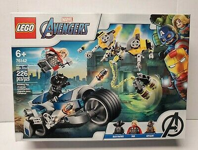 Brand New LEGO Marvel Avengers Speeder Bike Attack Thor Black Panther 76142