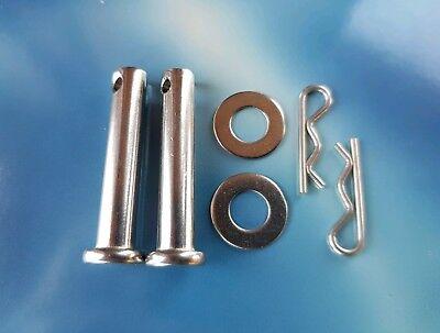 FOOTREST CLEVIS PINS STAINLESS STEEL M8 X 40MM HONDA SUZUKI <em>YAMAHA</em> KAW
