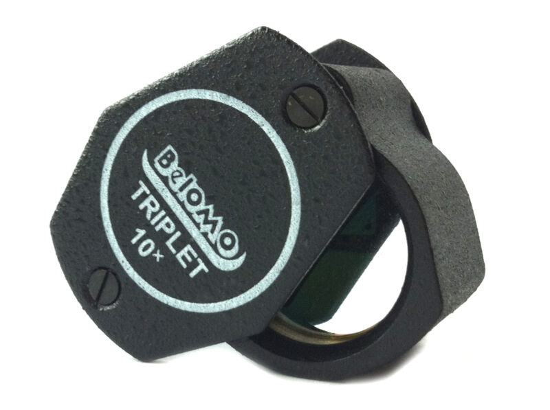 "BelOMO 10x Triplet Jewelers Loupe Magnifier. 21mm (.85"") BRAND NEW Glass & Metal"