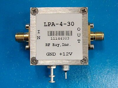 100-4000mhz 33db Gain Wideband Rf Amplifier Lpa-4-30 New Sma