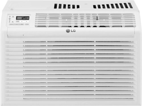 LG 6000 BTU 115V Window Air Conditioner with Remote Control - White