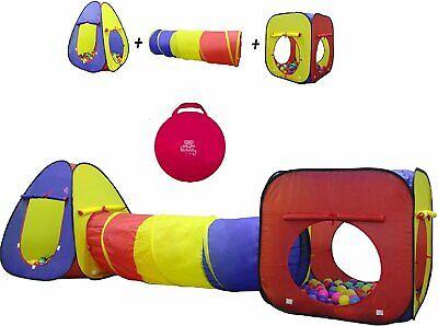 Kiddey 3pc Kids Play Tent Crawl Tunnel and Ball Pit Set –