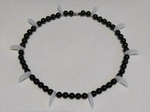 Inuyasha Inu-Yasha Necklace - Black Onyx & White Opal Kotodama no Nenju