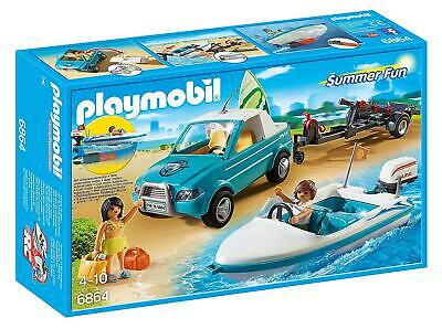 Playmobil 6864 Summer Fun Surfer Pickup with Speedboat with Underwater Motor