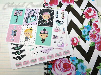 Fashion Girl Planner Sticker Erin Condren Happy Planner Filofax Kikki K
