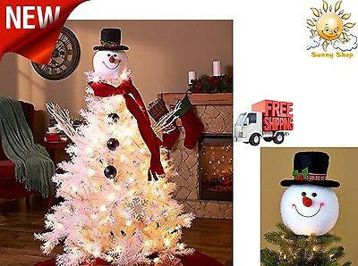 Snowman Decoration Christmas Tree Topper Holiday Decor ...