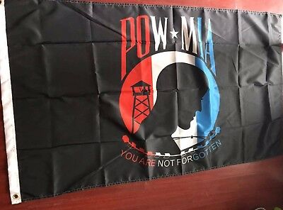POW MIA Flag 3x5 Red White And Blue American Flag Not Forgotten](Red White And Blue Flag)