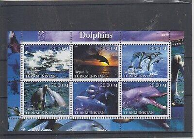 Turkmenistan Block Dolphins  mnh