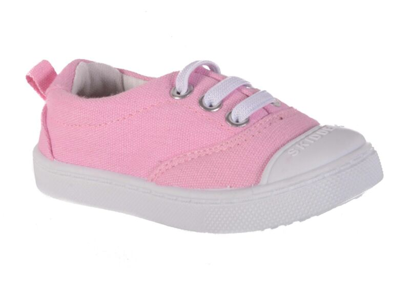 SKIDDERS Baby Toddler Girls/' Canvas High Top Shoes Sneaker Style SK1035 Sz 7 NWT