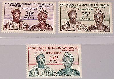 CAMEROUN KAMERUN 1962 344-46 352-54 President Ahidjo Prime Minister Foncha MNH