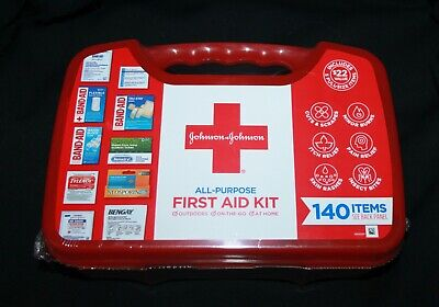 NEW SEALED Johnson and Johnson All-Purpose First Aid Kit 140