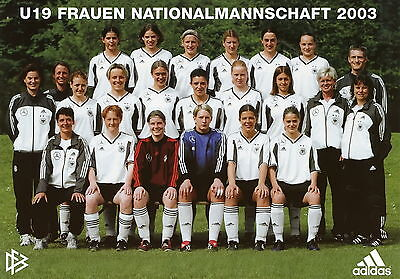 Poster Deutsche U19 Frauen Fussball Nationalmannschaft 2003 Deutschland DINA4