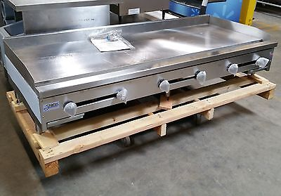 New 72 Manual Griddle Flat Top Grill Gas 6 Stratus Smg-72 2897 Commercial Nsf