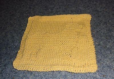Brand New Hand Knit Australian Shepherd Cotton Dish Cloth 4 Dog Rescue  Charity