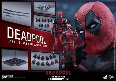 Brand New Hot Toys Deadpool MMS-347 1/6 Figure. New In Sealed Shipper.