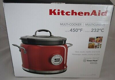KitchenAid 4 Quart Multi-Cooker Candy Apple Red Brand New KMC4241CA
