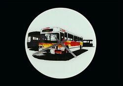 Evan Hecox Glass Wall Clock Bus Modernist Modernism Round Designer Aluminum