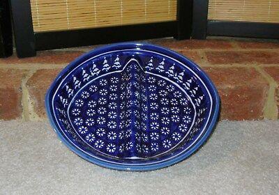 (Polish pottery stoneware Boleslawiec divided dish snowflake)