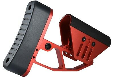 Red Skeleton (Skeleton Minimalist Adjustable Red Butt Stock Cheek Rest Pad Buttstock RB )