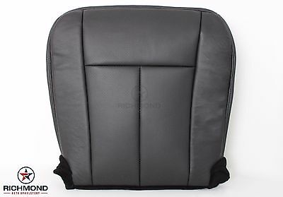 (2009 2010 Ford Expedition-Driver Side Bottom Perforated Leather Seat Cover Black)
