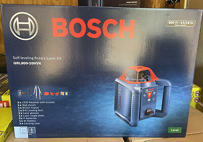 Brand New Bosch Grl800-20hvk Self-leveling Rotary Laser Kit Level 800ft - 316