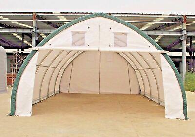 20x30x12 Canvas Fabric Building Shelter Carport Boat Storage Barn Tent Portable