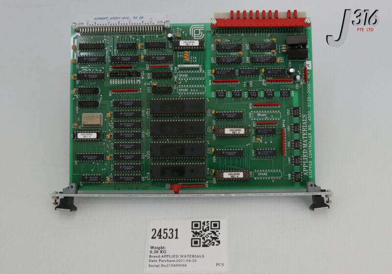 24531 Applied Materials Pcb, Stepper Controller, 0120-20067 0100-20067