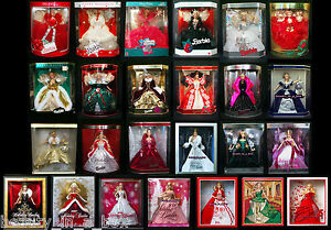 Holiday-Barbie-Doll-1988-2012-Lot-25-1989-1990-2004-2006-2009-NICE-BOXES