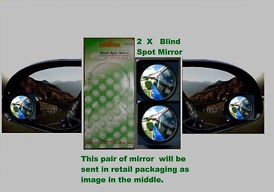 2 X Convex  Blind Spot Mirrors in Retail Pack Promotional Price  Only 155