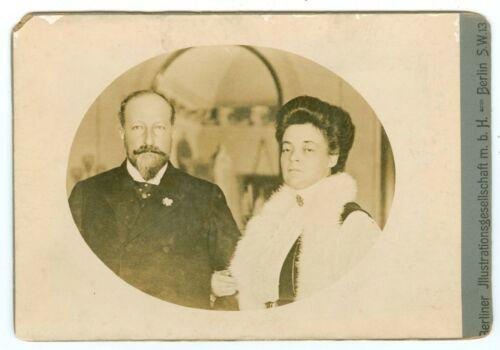 G0175* Bulgaria King Ferdinand I & Princess Eleonore 1910? Cabinet Card