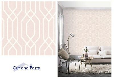 Arthouse New York Geo Pink White Geometric Wallpaper 908208