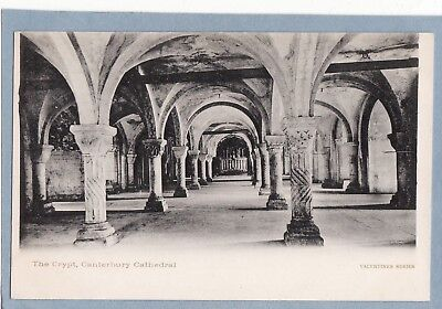 VINTAGE POSTCARD - THE CRYPT CANTERBURY CATHEDRAL KENT - Unposted