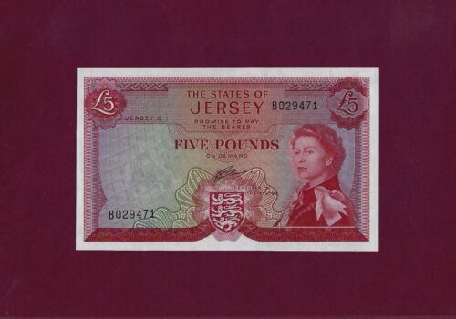 JERSEY 5 POUNDS 1972 P-9 UNC  Great Britain UK GUERNSEY