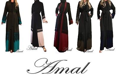 ❤️AMAL Muslim Women Kaftan Abaya, Islamic Long Maxi Dress Long Sleeve Hijab USA