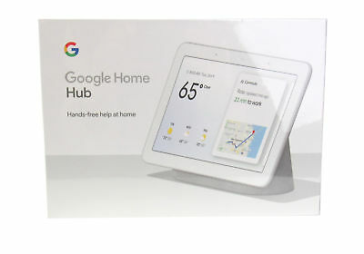 Google Home Hub with Google Assistant (GA00516-US) Chalk  Brand NEW