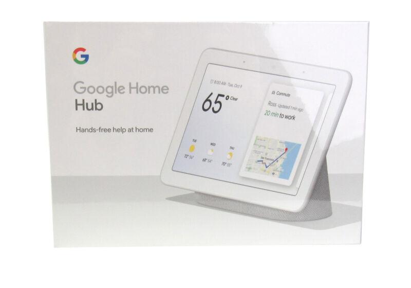 Google Home Hub with Google Assistant (GA00516-US) Chalk Brand NEW