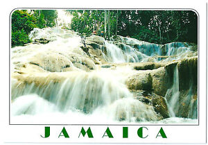 Jamaica Postcard of the Dunns River Falls - Waterfalls Post Card