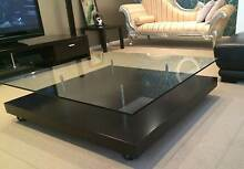 GLASS TOP DESIGNER COFFEE TABLE (NICK SCALI) Normanhurst Hornsby Area Preview